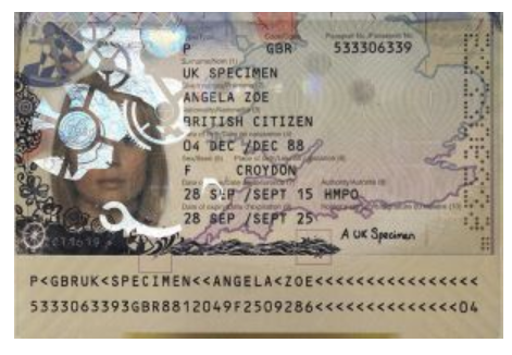 hologram passport example